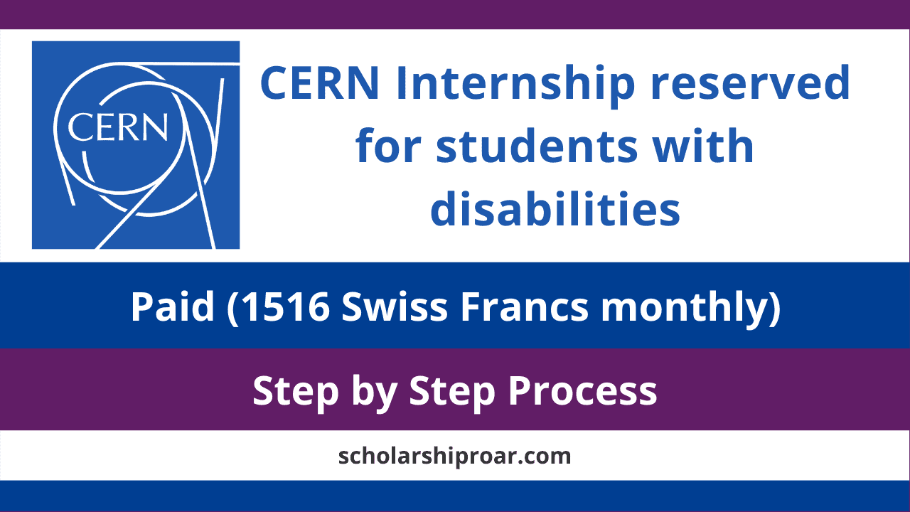 CERN Internship reserved for students with disabilities