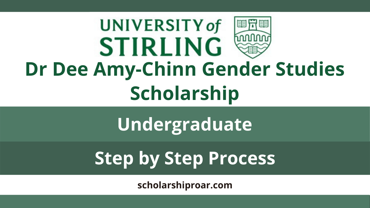 Dr Dee Amy-Chinn Gender Studies Scholarship