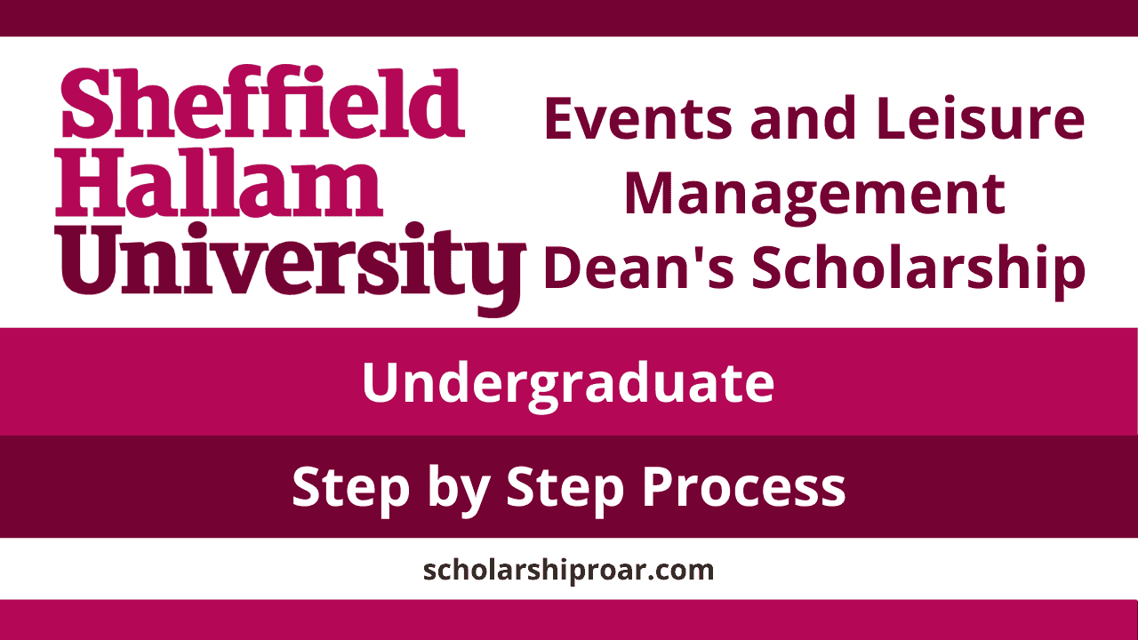Events and leisure management Dean's scholarship