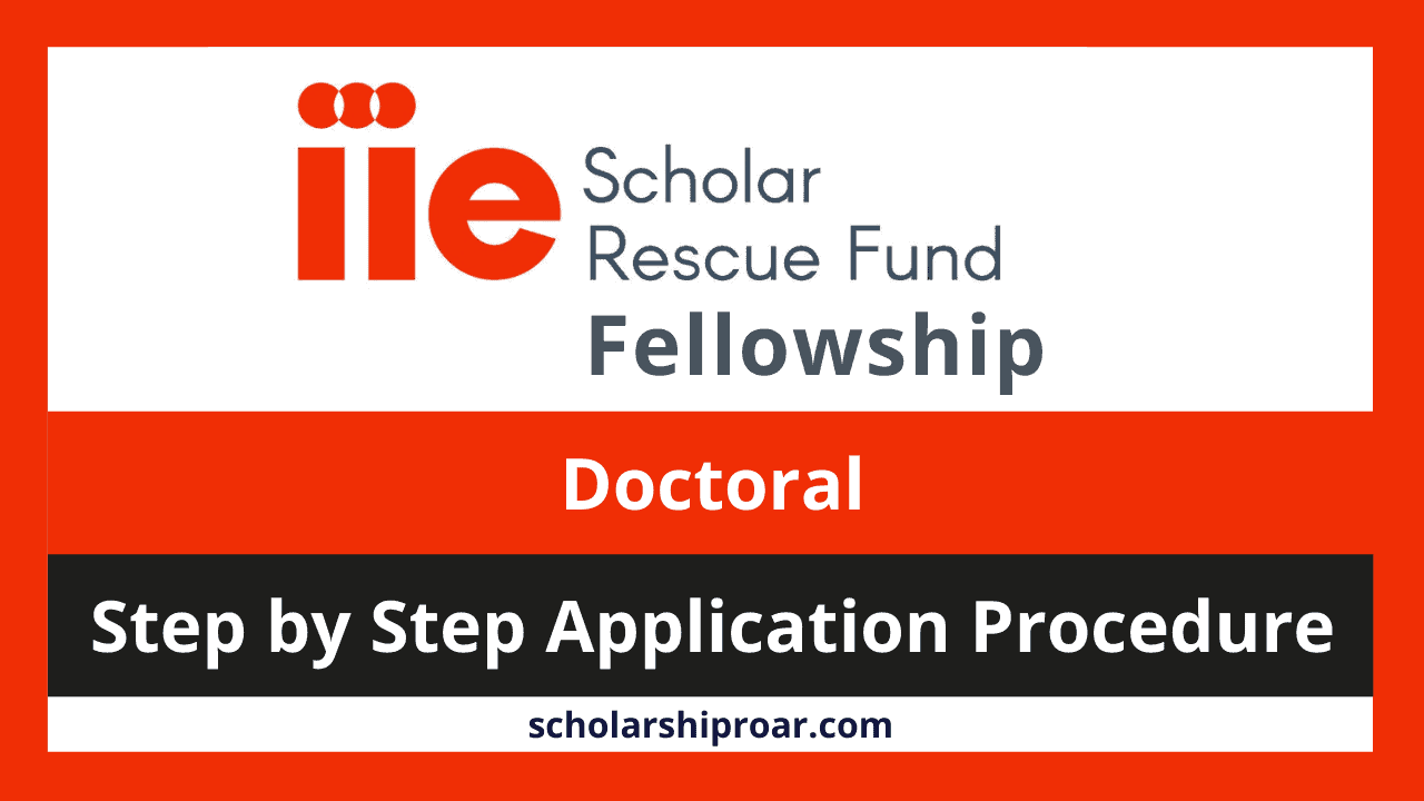 IIE SRF fellowship