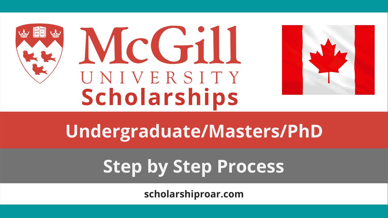McGill University scholarships