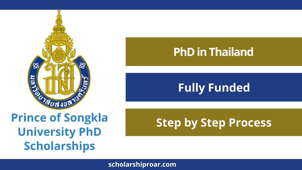 Prince of Songkla University PhD Scholarships