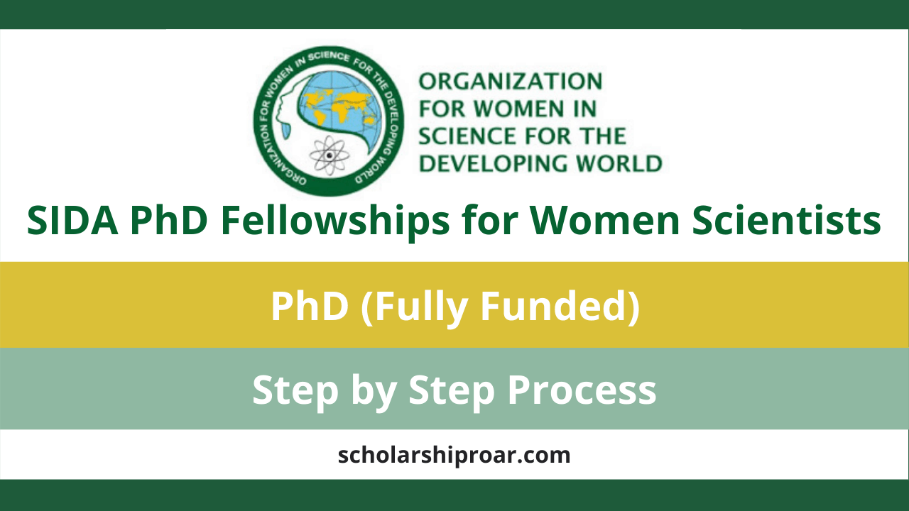 SIDA PhD Fellowships for Women Scientists