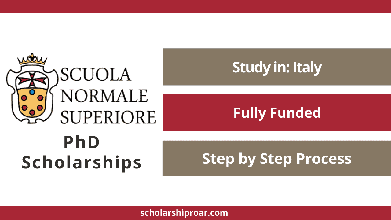 Scuola Normale Superiore PhD Scholarships