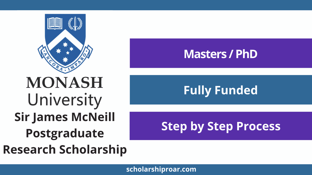 Sir James McNeill Postgraduate Research Scholarship