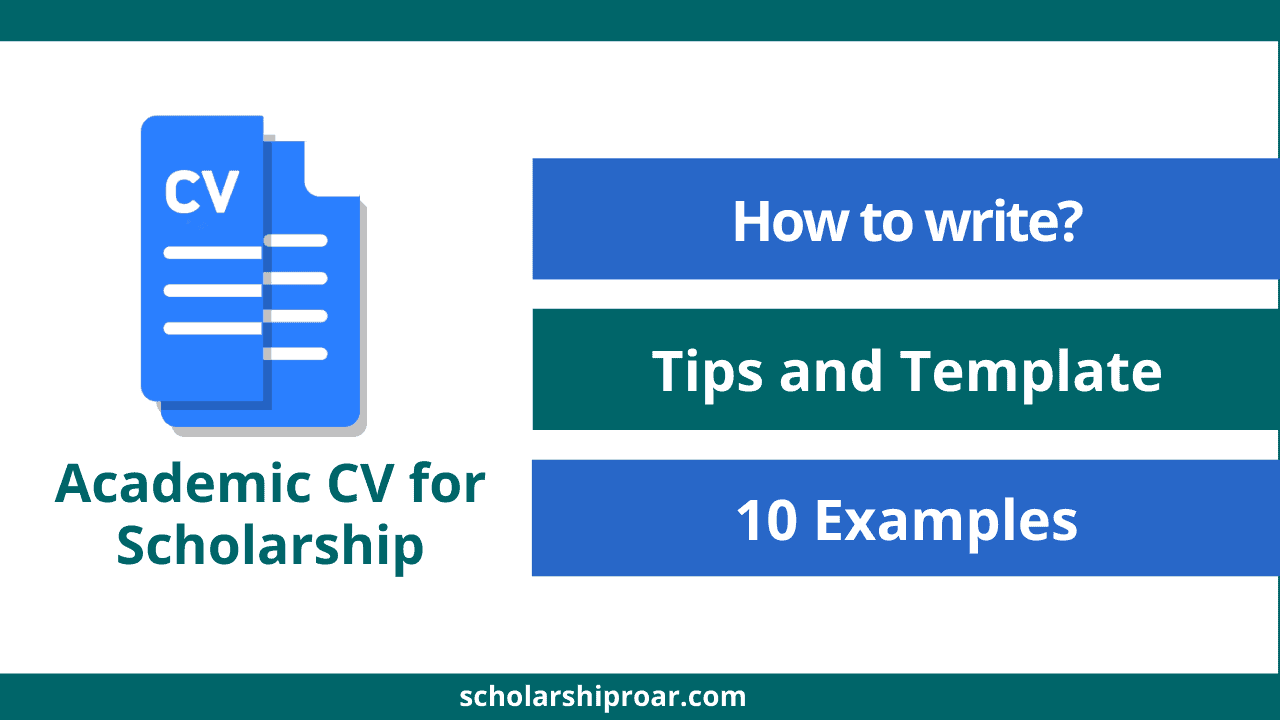 Academic CV for Scholarship
