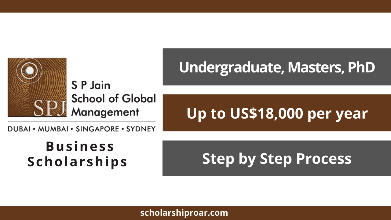 Business Scholarships at S P Jain School of Global Management